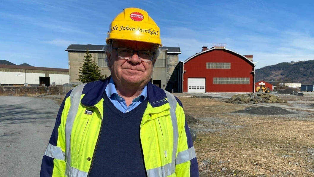 Adm. dir. Ole Johan Svorkdal i Orkanger-bedriften Washington Mills setter stor pris på 37,2 mill. kroner i støtte fra Enova. (Foto: Øyvind Brostrøm)