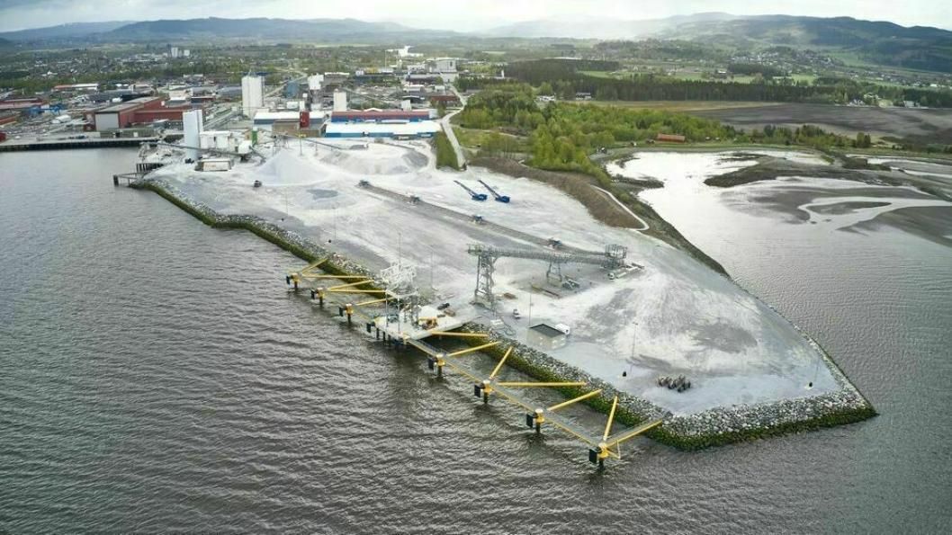 Midt-Norges største industri- og utskipningshavn har firedoblet kapasiteten for utskipning fra én til fire millioner tonn årlig.