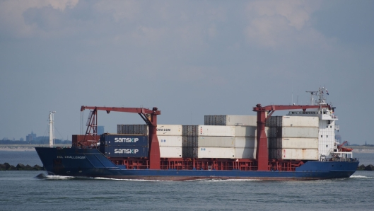 Containerskipet Samskip Challenger skal anløpe Trondheim annenhver uke.