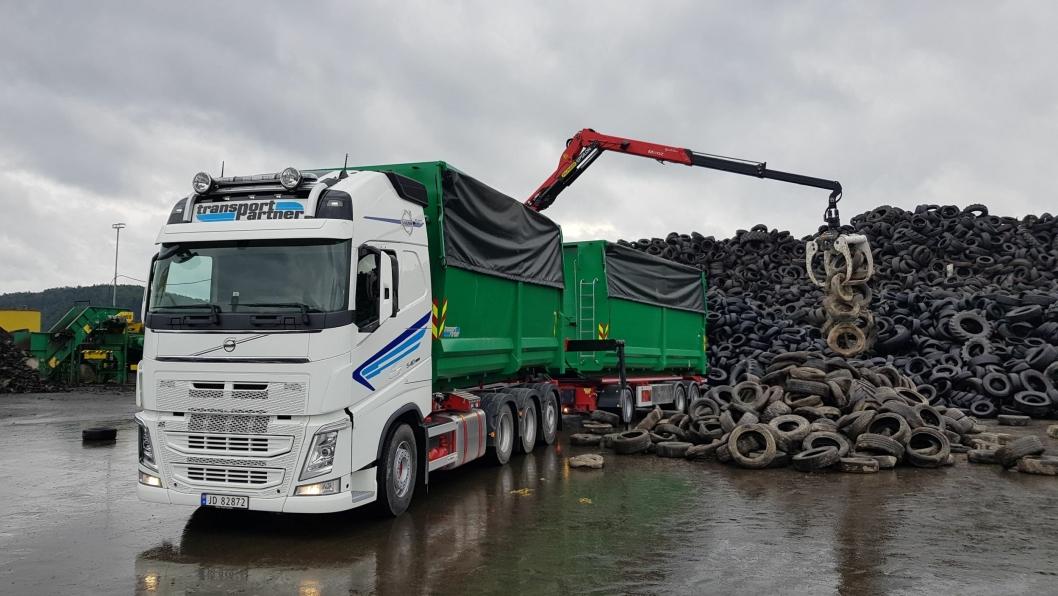 Transportpartner har en sentral rolle i transporten av vrakdekk.