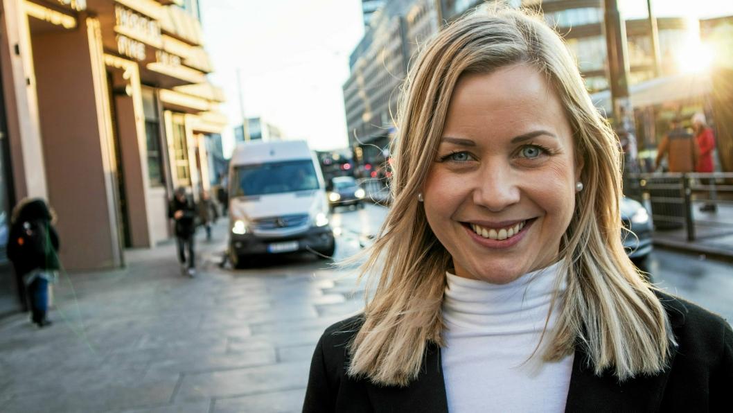 ERFARING OG PÅGANGSMOT: Maiken Therese Kallesen tar styringen i  Logistikkforningen avd. Østlandet.