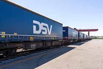 Norgips Norge overfører vogntog-gods til tog
