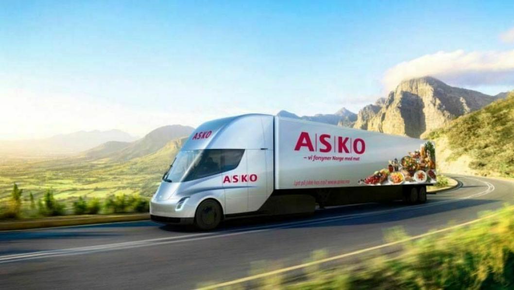 Asko er blant kundene som har bestilt Tesla Semi.
