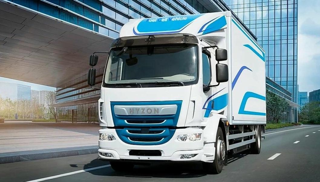 12-18 tonns hydrogenbiler basert på en DAF LF