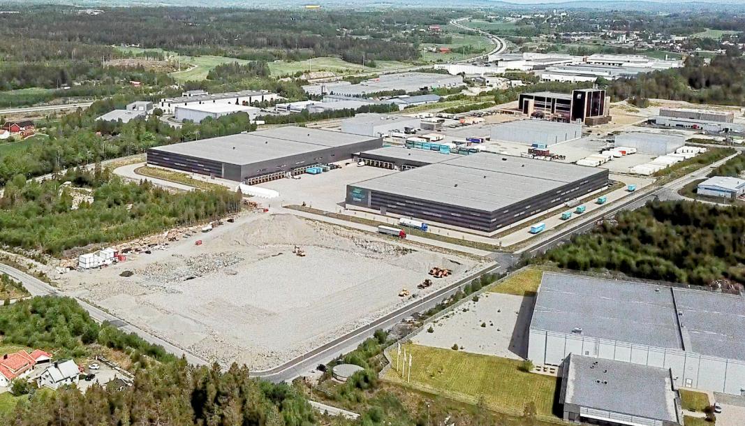 SNART KLART: På nabotomten til Prime Cargo skal Logicenters bygge 12.000 kvadrameter lager.