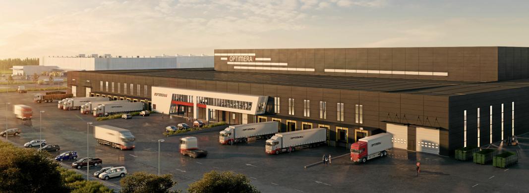 BEGYNNELSEN: Første byggeprosjekt på Vestby-tomten til Anthon B Nilsen er Optimeras nye sentrallager.