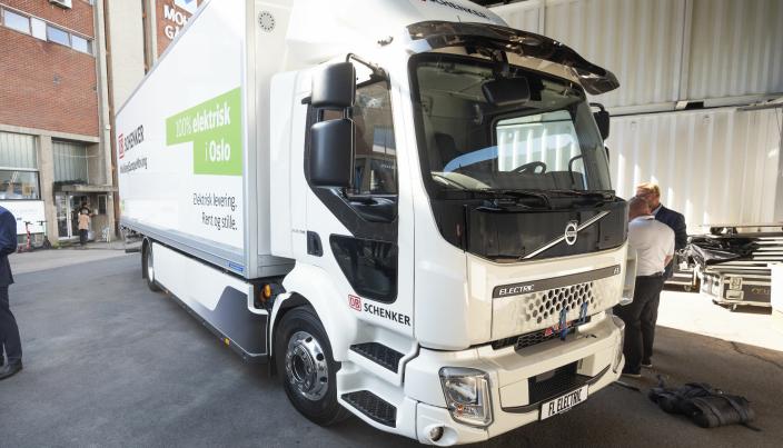 FØRSTE: Slik ser Norges første serieproduserte elektriske lastebil ut.