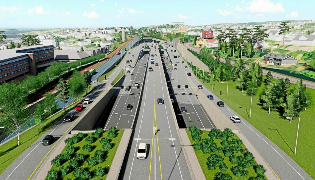 DELVIS I TUNNEL: Den nye motorveien gjennom Bærum er for en stor del planlagt anlagt i tunnel og vil frigjøre arealer i den folkerike kommunen vest for Oslo.