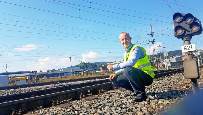GODSSATSING: Henning Aandal leder satsingen til Onrail, og er optimistisk med tanke på å få godsvolumer tilbake på Raumabanen.