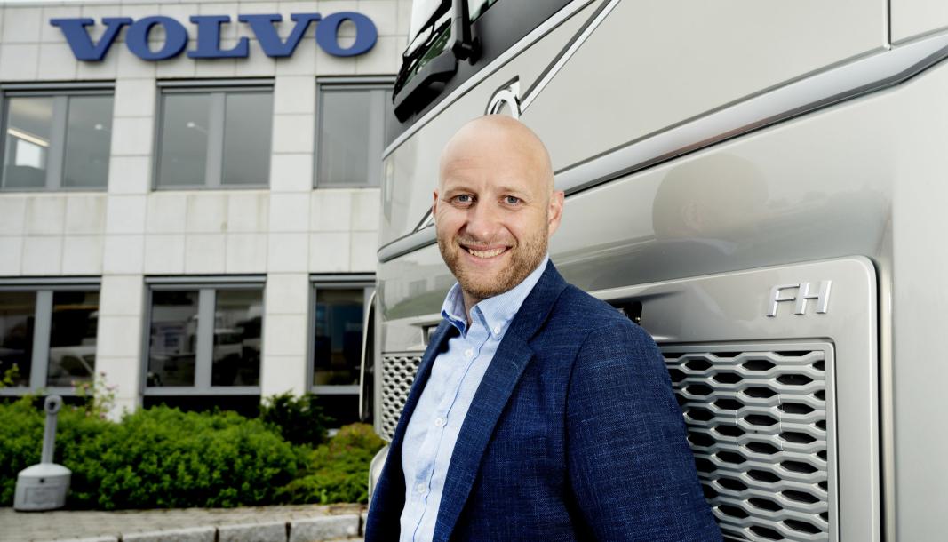 Karstein Ahlin, administrerende direktør for Volvo Norge AS, bygger nå opp sin nye organisasjon: Nye Volvo Norge