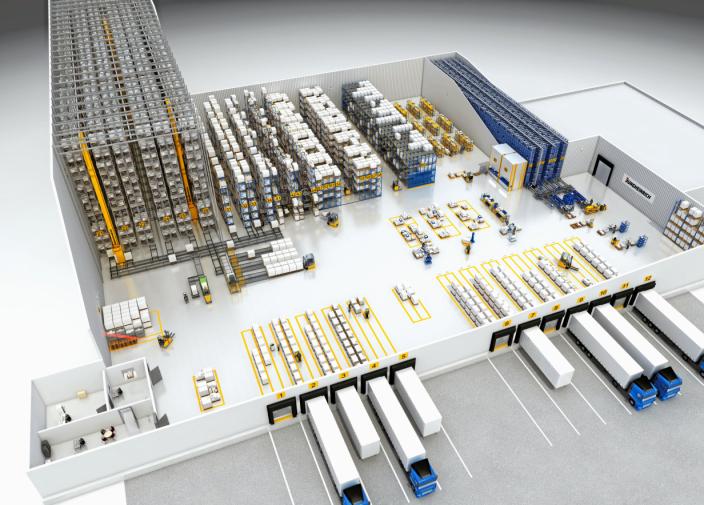 HAR BREDDEN: Med Jungheinrich skal du få alt fra reoler og trucker til kompliserte systemer.