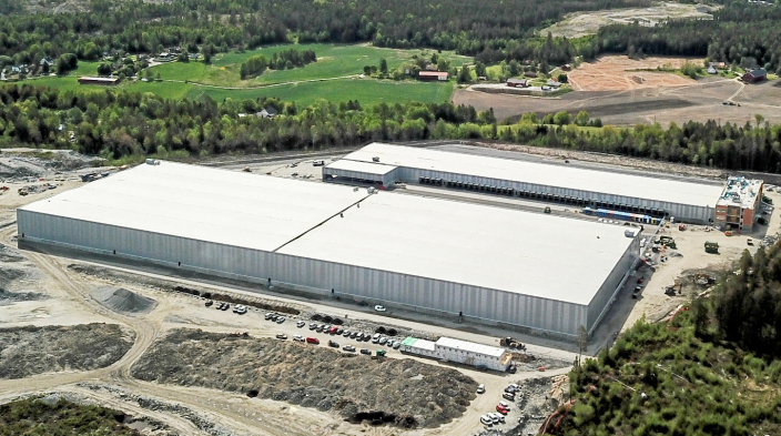 KUNDE 2: DSVs store nye anlegg på Vestby skal også fylles opp med automatiske løsninger fra Jungheinrich.