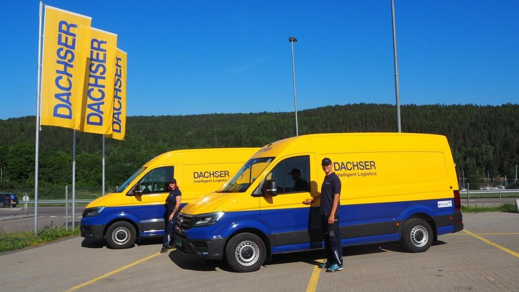 Dachser har fått levert to VW eCraftere som skal levere utslippsfritt i Oslo.