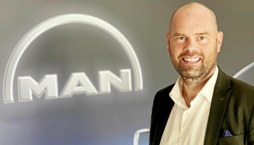 Christian Mundal Hagen er ansatt som salgsdirektr for MAN TGE i Norge fra 1. september 2020.  Foto: MAN