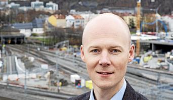 Oskar Stenstrøm er godsdirektør i Bane Nor.