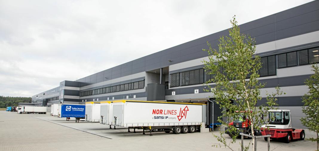 380 METER LANGT: Europris-lageret i Moss er det største lageret som er bygget i én omgang i Norge.