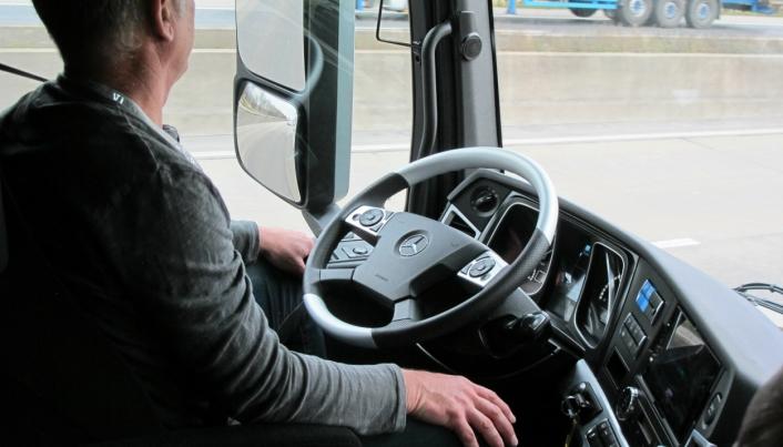 Illustrasjonsbilde av selvkjørende lastebil i Düsseldorf, tatt i mars 2016.