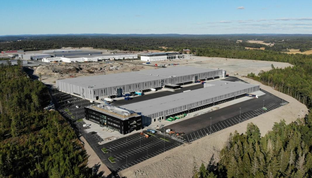 PÅ PLASS: DSV har nå flyttet inn helt syd på Vestbys logistikkområde.
