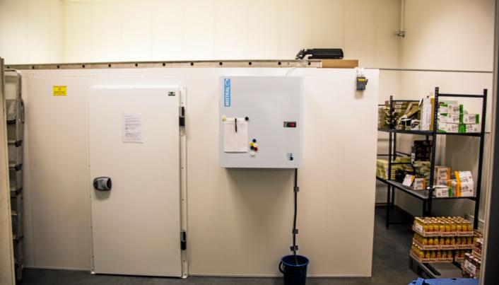 LITE MEN EFFEKTIVT: I Maridalsveien har S:mart et lite lager med modulbasert kjølelager. Herfra forsynes alle kjøleskapene i Stor-Oslo.