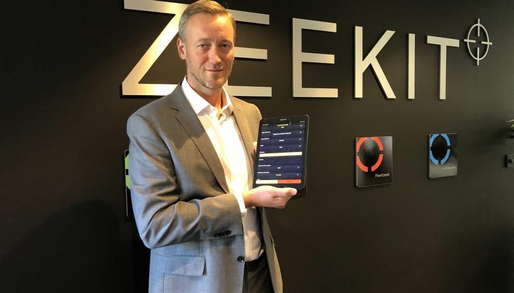 DIGITALISERER TRANSPORTBRANSJEN: Robert Bengtsson-Fosen og kollegene i Zeekit AS er på full fart inn i transportbransjen med nye og smarte digitale løsninger som effektiviserer og gir en etterlengtet kontroll.