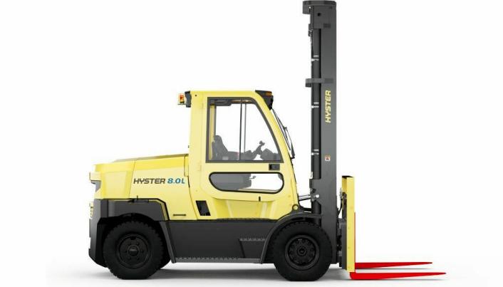 7-9 TONN: Hyster J7.0–9.0XNL har integrerte litiumbatterier og ytelser på høyde med dieseltrucker.