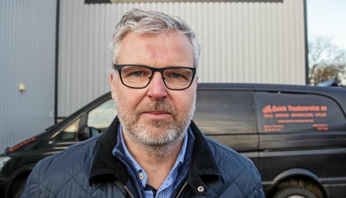 NYE TRUCKER Å SELGE: Erik Nicolaisen er salgssjef i Quick Truckservice.