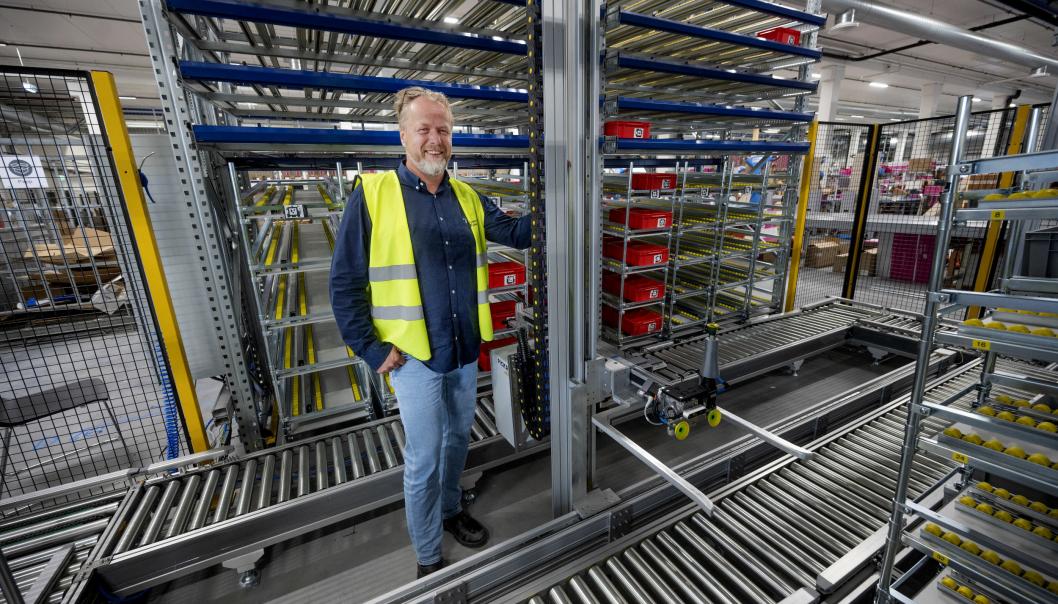 PILOT: I oktober kjører logistikkdirektør Thor Sverre Molle i Blivakker.no i gang med sitt første forsøk med automatisk plukking av varer.