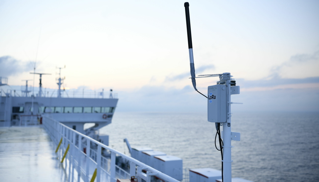 Ved hjelp av sensorteknologi og trådløse signaler skal Altibox og Wilhelmsen gjøre godstrafikken smartere.