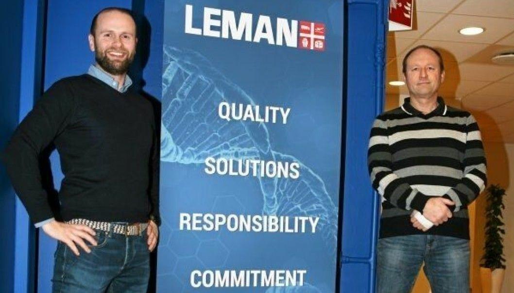 Sjefsbytte i Leman. Christer Busse (t.v.) overtar som CEO etter Egil Wilhelms som blir ny logistikk- og lagersjef. Foto: Per Dagfinn Wolden