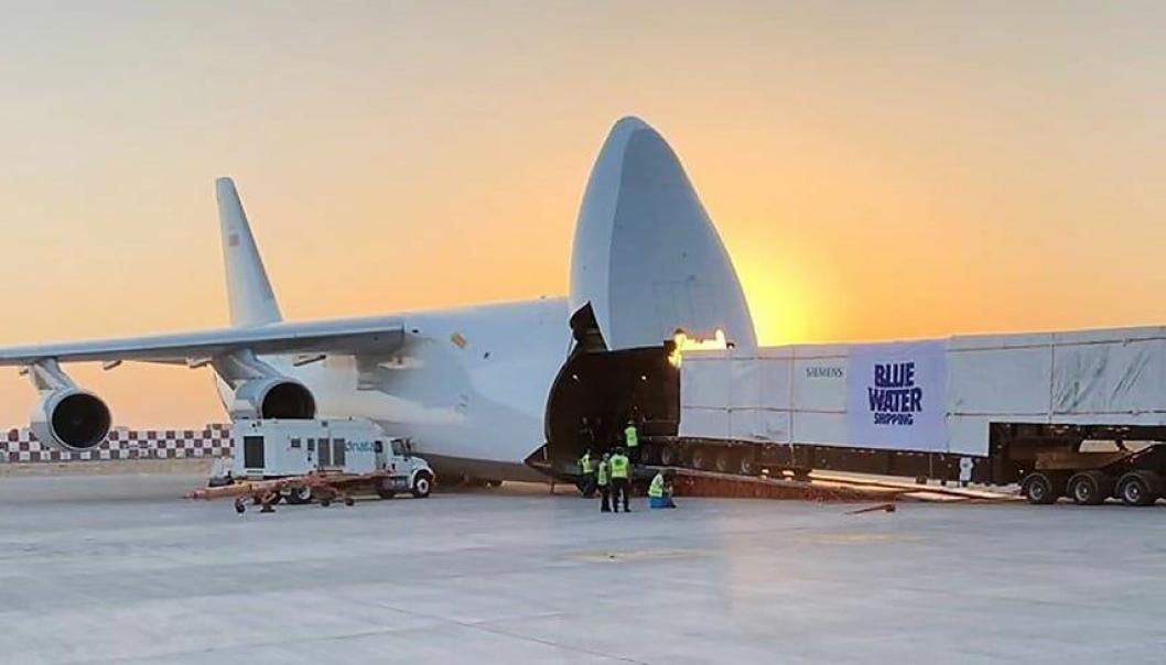 Blue Water Shippings leveranse av verdens første Siemens SGT-A45 turbin resulterte i flyfrakt-prisen Heavy Lift Awards 2020.