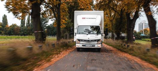 Åtte nye Fuso eCanter til DB Schenker i Norge