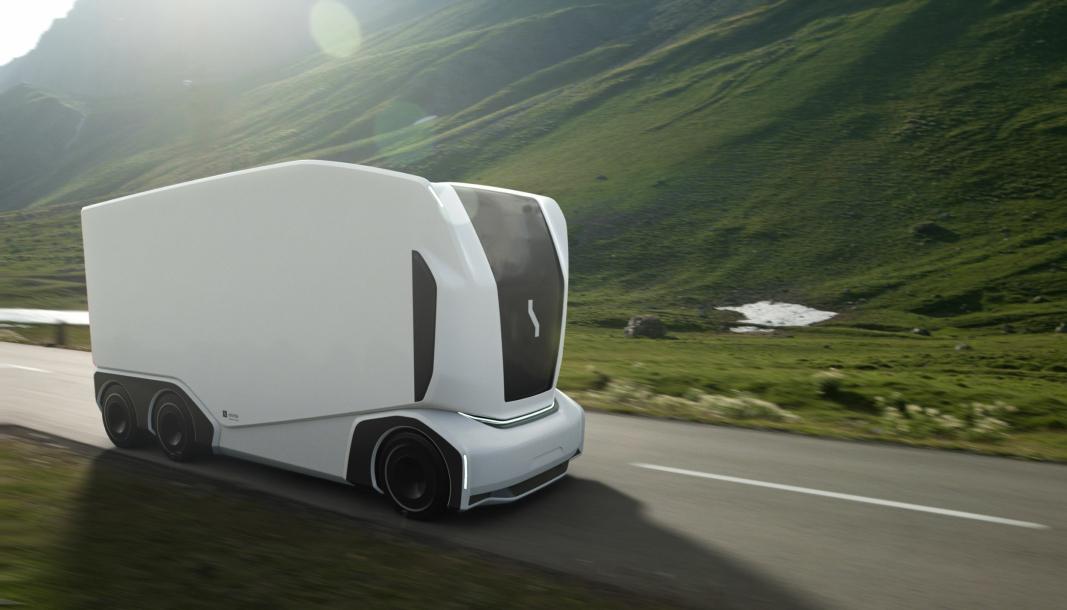 Einride Pod er litt mer aerodynamisk og har bedre lys en forgjengeren. Lastekapasiteten er på 16 tonn / 15 paller.