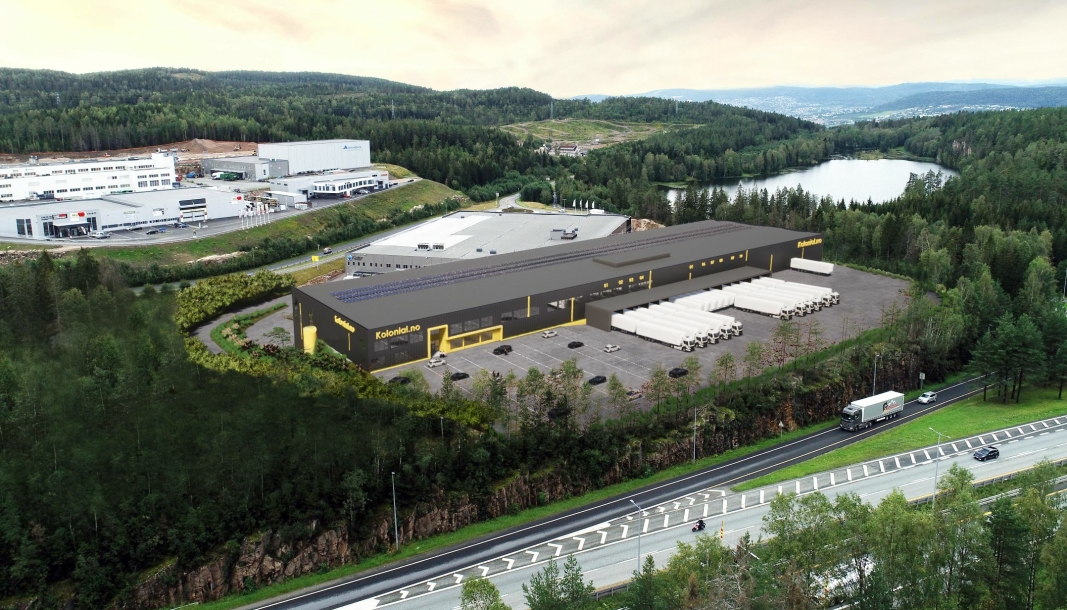 Det nye lageret på Lier blir på 18.000 kvadratmeter.