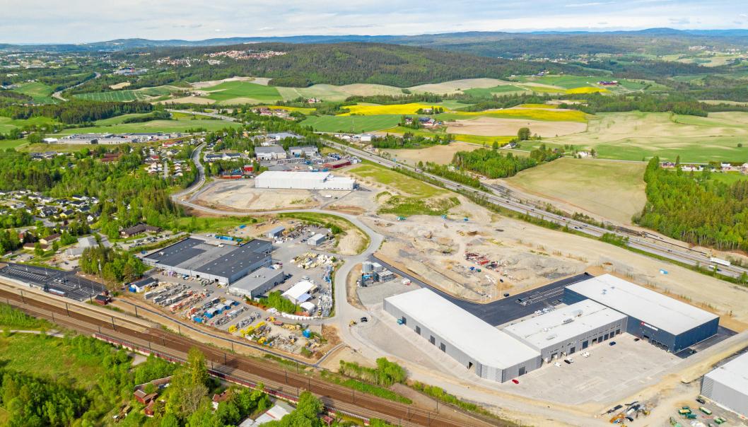 På Lindeberg har Bulk Infrastructure bygget opp en stor logistikkpark, som nå begynner å bli full.