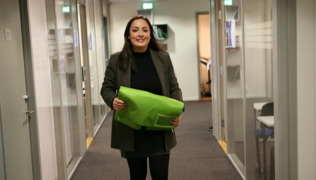Natasha Jancovic er på god vei til å revolusjonere emballasje-verden. Foto: Per Dagfinn Wolden
