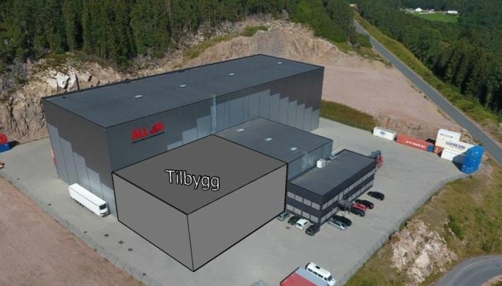 FREMTIDEN: Apilar har ferdig tegnet en fremtidig utvidelse ved anlegget i Røyken.