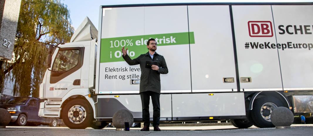 Klima- og miljøvernminister Sveinung Rotevatn håper Grønt Landtransportprogram skal hjelpe norsk næringstransport til en grønnere fremtid.