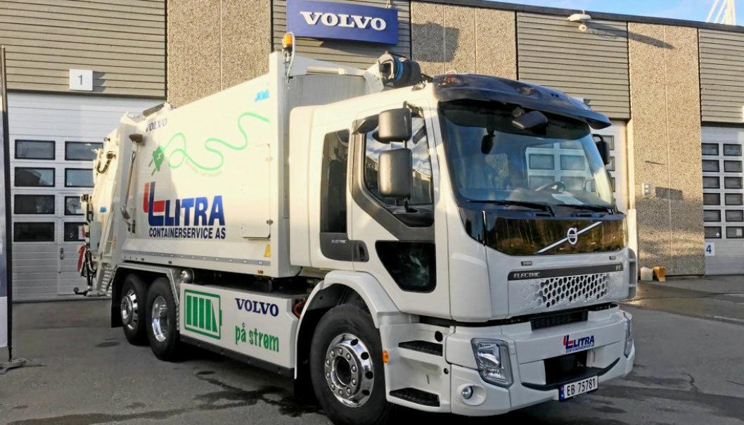 Den elektriske Volvo-en skal settes i drift på fredag.