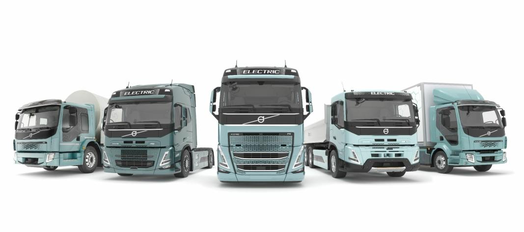 Både Volvo FH, FM og FMX blir tilgjengelige i elektriske versjoner neste år.
