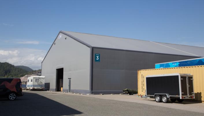 AREALEFFEKTIVT: Colliflow har i dag lagre i tre ulike bygg i tillegg til en nyoppført Rubb-hall. Autostore-anlegget skal sikre at man ha plass til å vokse.