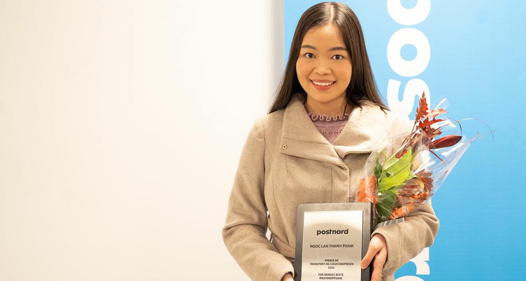 BESTE MASTER: Ngoc Lan Thanh Pham har skrevet årets beste masteroppgave innen logistikk.