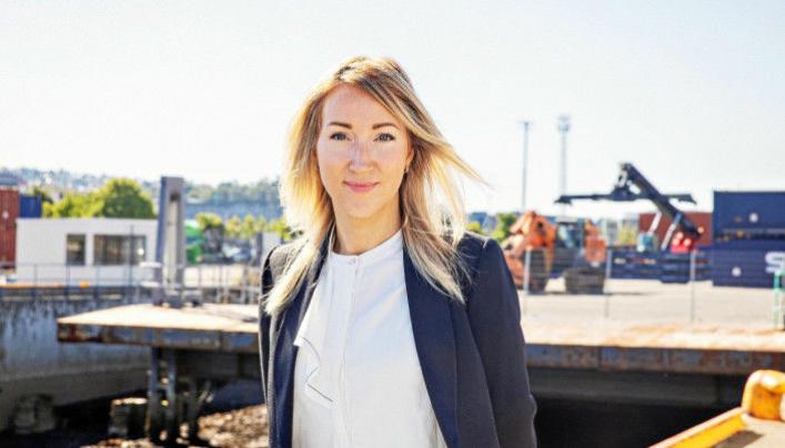Prosjektleder i Kysthavnalliansen Ann Iren Holm Rise vil ha import langs Norskekysten.mage caption