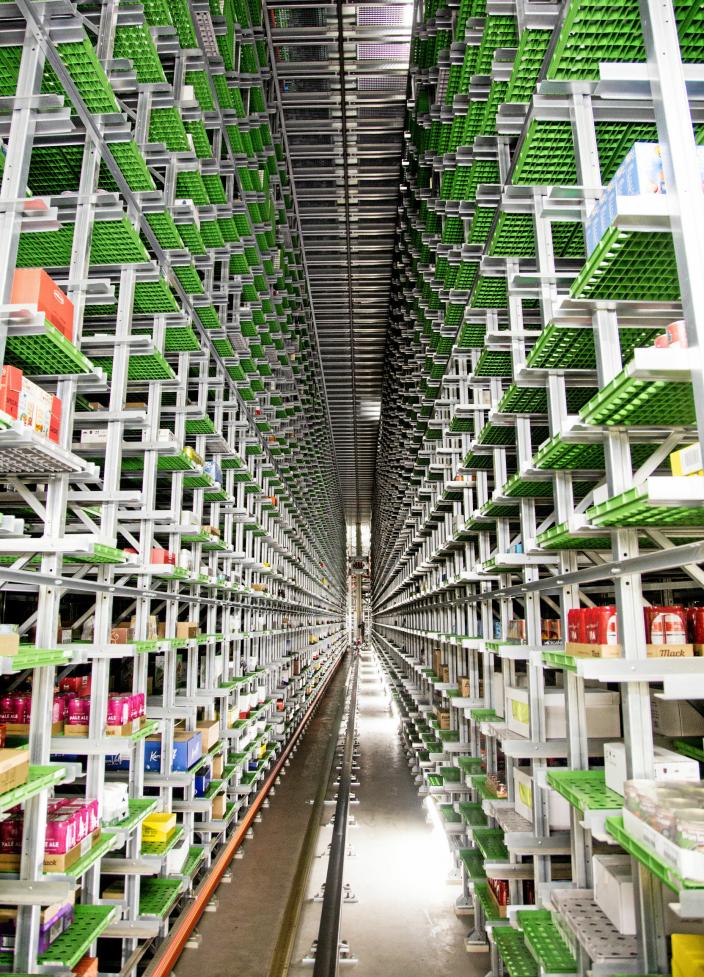 Coop sentrallager CLog er høyautomatisert og et av Europas mest moderne.