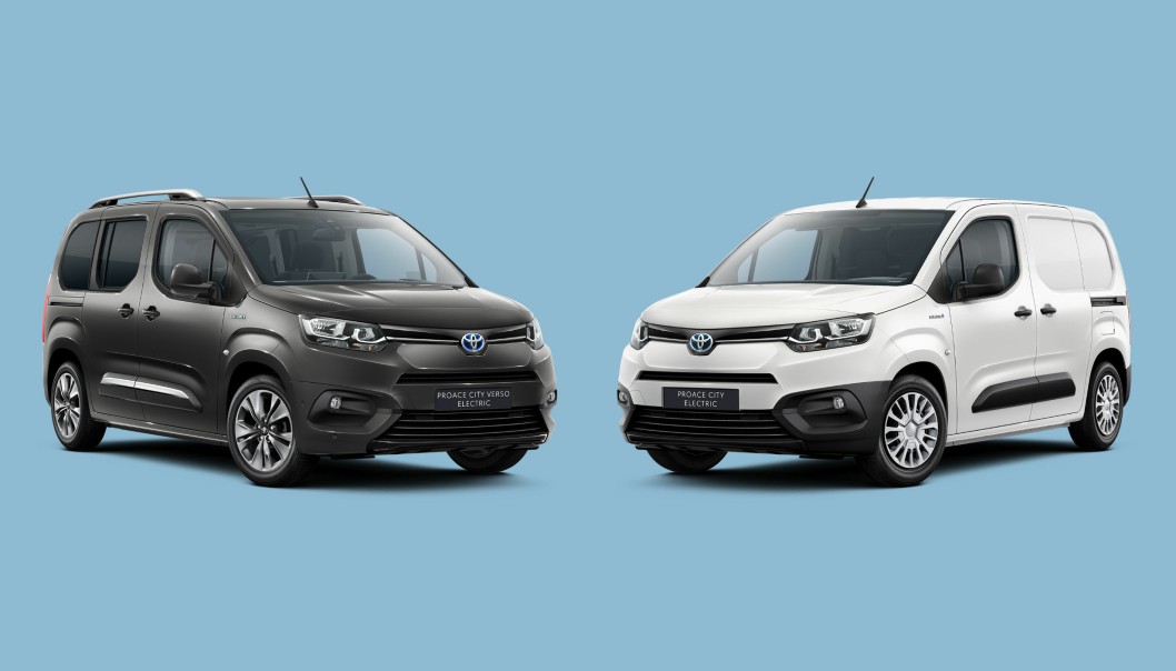 Til høyre står nye Toyota Proace City Electric. Til venstre er personbilvarianten, Toyota Proace City Verso Electric