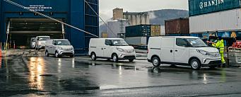 1000 elektriske Maxus ankom Drammen