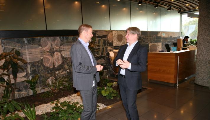 NHO LT-sjef Are Kjensli får med seg Ole Andreas Hagen som kollega og sparringspartner i NHOs høyborg fra nyttår. Foto: Per Dagfinn Wolden