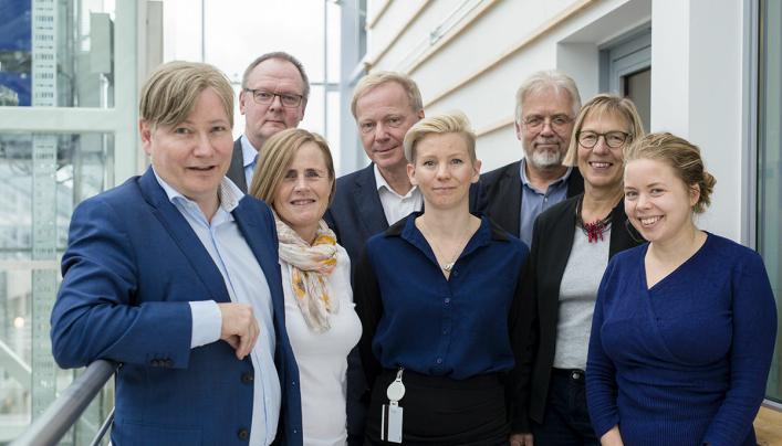 Ole Andreas Hagen er styreleder i TØI, Vice President i verdensorganisasjonen FIATA og program- og porteføljestyrer i Forskningsrådet. Her sammen med TØI-styret.