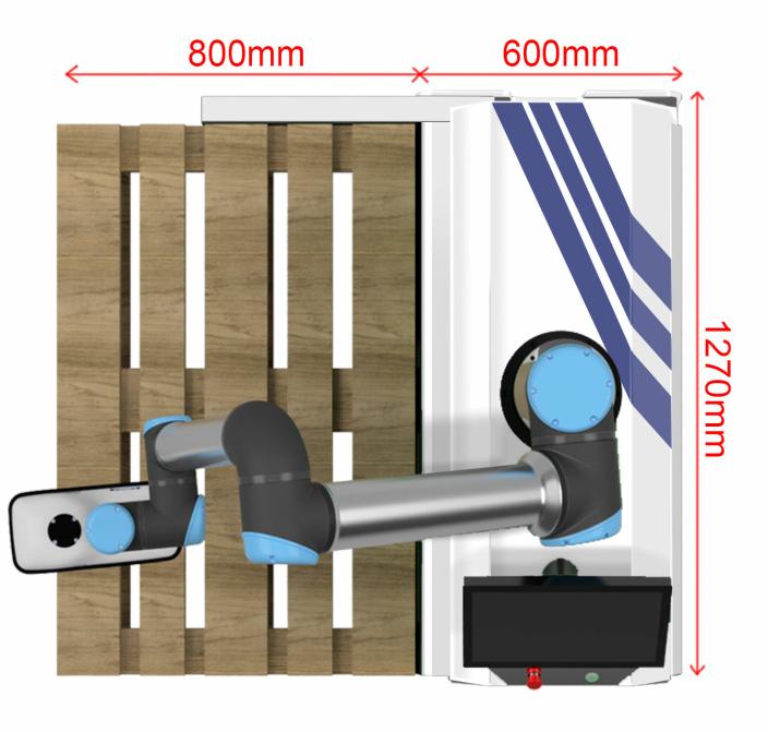 LITEN: EasyPallet tar liten plass og kan håndtere to palleplasser på en gang.
