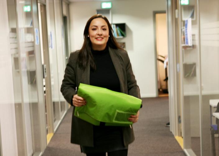 Natasha Jancovic og Packoorang satser på gjenbrukbar emballasje. Foto: Per Dagfinn Wolden 21.10.2020