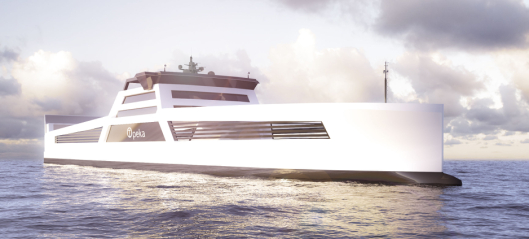 Godsskip på hydrogen i fast rute
